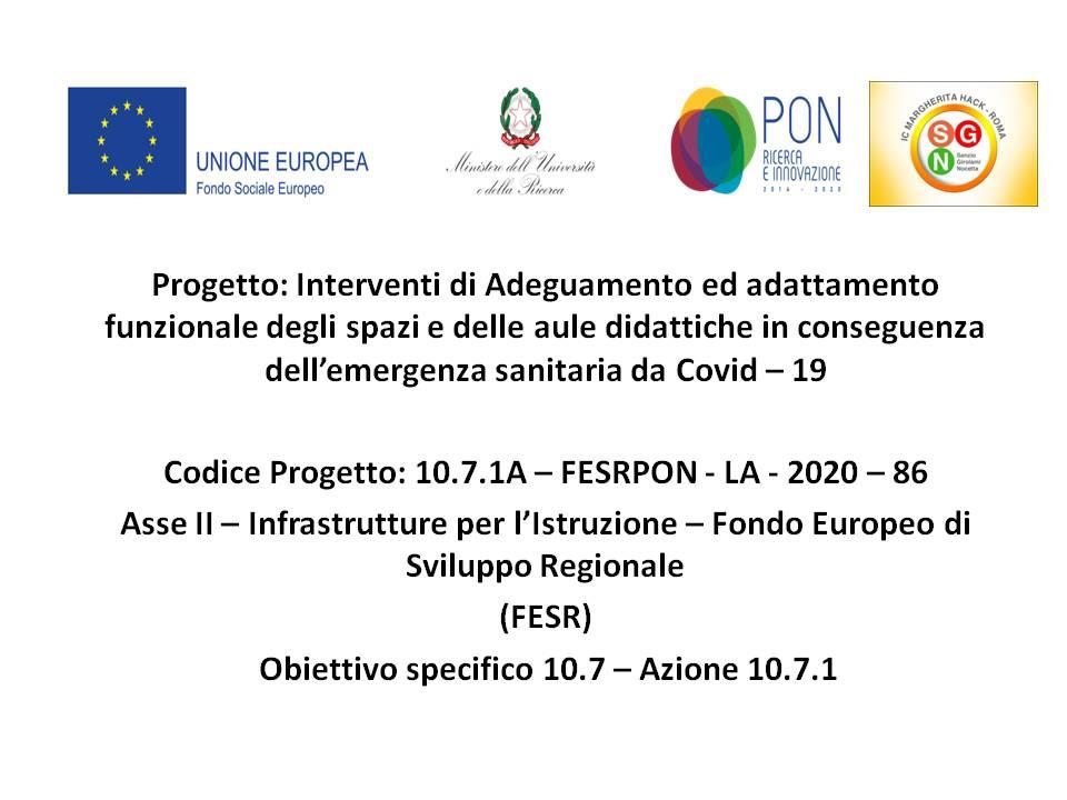 Interventi di adeguamento ed adattamento funzionale degli spazi e delle aule didattiche in conseguenza dell'emergenza sanitaria da Covid – 19