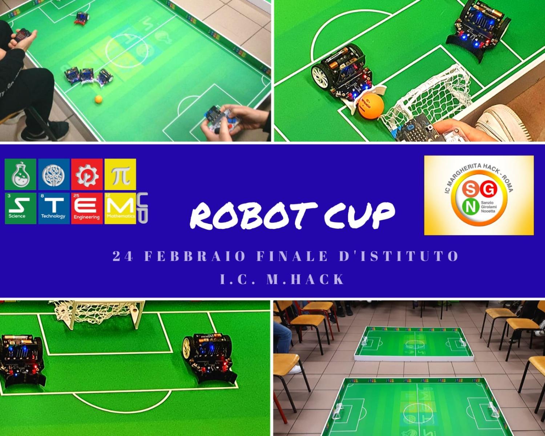 SECONDARIA 24 feb.: ROBOT CUP - FINALI TORNEI DI CALCIO CON I ROBOTTINI