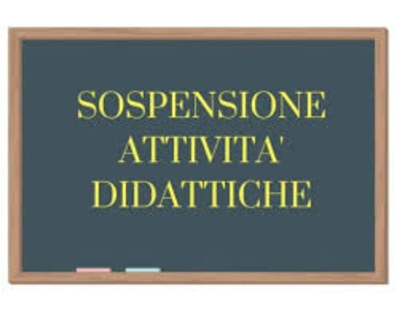 SOSPENSIONE ATTIVITA' DIDATTICHE